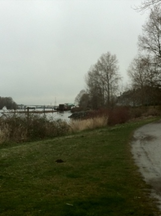 A shot of the riverfront in East Vancouver.