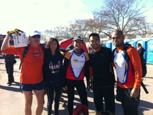 Me and other runner-volunteers on Staten Island